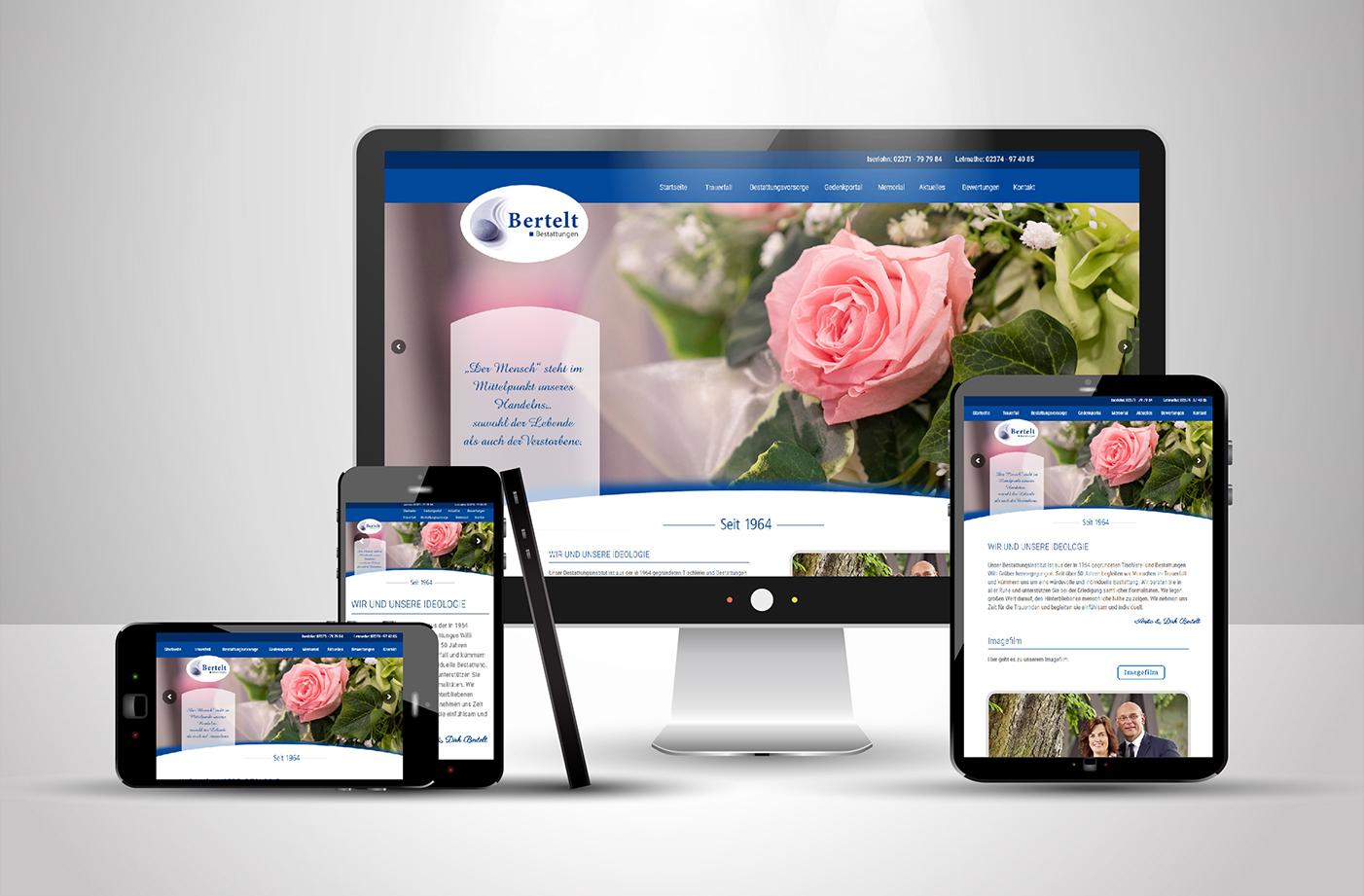 Website Bertelt Bestattungen